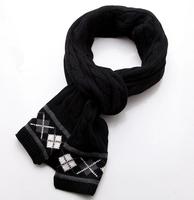 Knitted scarf winter new retro twist England College Wind Plaid unisex warm scarf