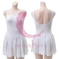 Ballet dance black-and-white 2 fitness leotard adult al0305 one-piece dress