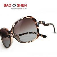 Fashion sunglasses fashion sunglasses female big box star sun glasses polarized vintage leopard print driving mirror