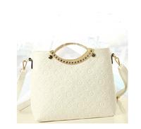 2014 casual embossed handbag white bags fashion all-match shaping women's White handbag