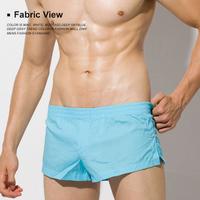 male panties low-waist male trunk solid color woven 100% cotton lounge pants aro pants pajama pants