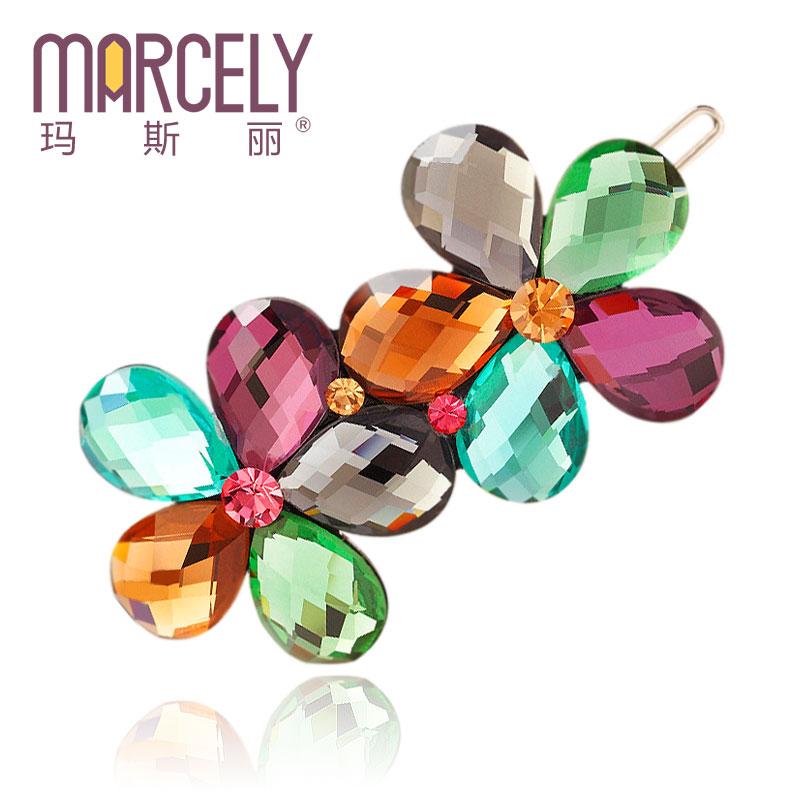 Hair accessories hair clip hairpins bangs clip so beautiful crystal rhinestone flower hair jewelry(China (Mainland))