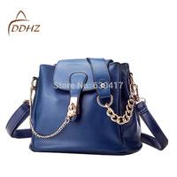 2014 women's handbag vintage bucket chain women's handbag lockbutton shoulder bag messenger bag