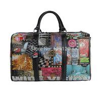 Fashion new arrival 2014 women's handbag fashion elegant star print handbag large bag print bucket handbag travel bag