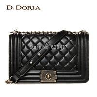 2014 women's channel handbag fashion plaid chain bag small bags shoulder bag messenger bag female free shipping