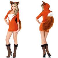 The Fox Halloween Costumes for women animal halloween clothes queen