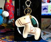 2014 hotselling fashion  PU leather key chain cartoon keychains key ring women bag accessory diy material 10pcs free shippment