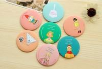 Korean Style Sweet Cute MINI Mirror makeup Tools 10 pcs/lot Makeup Mirror 70MM
