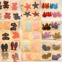 Free Shipping 2014 Fashion Children's Popular Hair Accessory Cartoon Lovely Magic Seamless Hair Sticks, 1 Lot=8 pcs