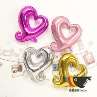Heart balloon wedding supplies aluminum balloon aluminum heart balloon