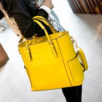 Real genuine leather bags fashion designer famous brand patchwork women handbag ladies tote shoulder bag bolsas femininas 2014