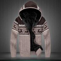 Free shipping Men sweater Thickening and velvet men sweater coat in winter