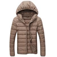 New fashion men winter down jacket sport outdoor parka outerwear overcoat 70% gray duck light down coat free shipping