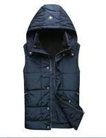 Free shipping Stefnorici cotton vest men's clothing male 2014 fashion outerwear 3 color M L XL 2XL  3XL