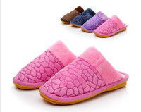 Hot-selling stone pattern cotton-padded autumn and winter slippers lovers slippers platform shoes slip-resistant warm double