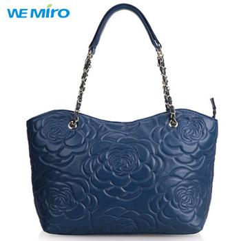 2014 осень женщины сумки с цветами Bolsos Piel Mujer овечьей шкуре большие кожаные сумки валентина мешок для подруги