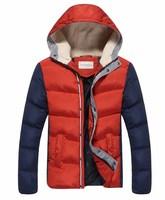 New men winter jacket warm man overcoat parka outwear cotton padded hooded down coat 4 colors M-XXL 3XL 4XL 5XL FREE SHIPPING