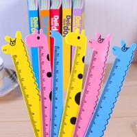 Stationery  cartoon animal ruler 15cm plastic ruler