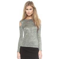 2015 Spring Latest Fashion Women's T Shirts Plus Size Clothing Long Sleeve Off The Shoulder Basic Top Tee Shirt XS-XXL Grey