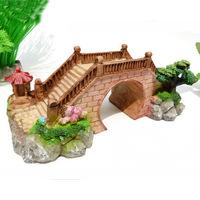 Aquarium Fish Tank Bridge Decoration Ornament L19cm*W8.5cm*H6.5cm for mini turtle creepiness free shipping