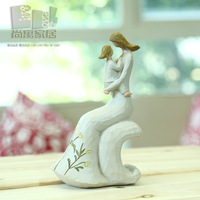 Parent-child angel doll decoration mother and child resin craft