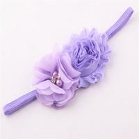 New arrival fashion  chiffon flower elastic headband