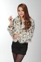 2014 women's peacock fur coat outerwear long fur short jacket