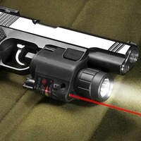 free shipping Hot Sell 200 Lumen Tactical Laser Flashlight Combo & 5mw Red Laser Sight for pistol Free Shipping DFW258(BOB-JGSD)