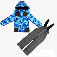 2014 design good quality winter clothes boy kit (jacket + pants) 3 colors active windproof suit fashion baby kids set for 3-6T