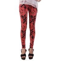Free shipping 2014 slim gauze fancy pencil print tights female trousers
