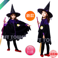 Halloween cosplay clothes infant child female costume cloak cos set