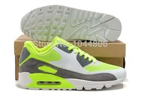 Free Shipping  Brand Men Shoes, Men Sport Shoes Running Shoes Gray/green sport shoes With box EUR Size 40-46