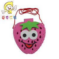 Eva handmade bag material kit stickers baby strawberry bag handmade bag