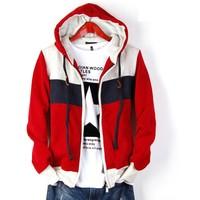 FREE Shipping Spring and autumn outerwear male teenage sports male sweatshirt plus size plus size cardigan sweatshirt men's
