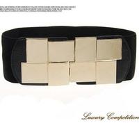 Simple fashion square mirror waist sealing joker female with elastic waistband skirt waist wide sealing