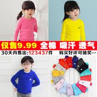 2014 autumn boys clothing girls clothing baby child long-sleeve T-shirt tx-1202 basic shirt
