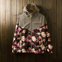 2014 sup trench outerwear for 3m reflective Camouflage rose outdoor jacket
