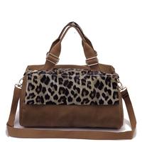 Bag fashion personality leopard print handbag one shoulder cross-body bags vintage women's handbag
