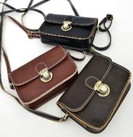 Freeshipping hot sales small mini cross-body mobile phone bag small bags 3 colors women's handbag faux vintage bags