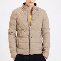 New 2014 fashion warm brand winter jacket men,men's down&parkas checked casual men winter jacket XXXL free shipping