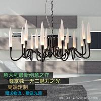 The new modern minimalist chandelier Italy white black art exhibition villa living room bedroom lamps
