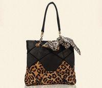 New 2014 leopard cowhide women's handbag horsehair genuine leather shoulder bag patchwork leather handbag female leopard  bag