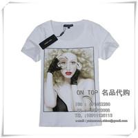 Mini Gum 2014 o-neck short sleeve Tee t-shirt top tee t-shirt female  short sleeve Top T-shirt R-011 3D pattern