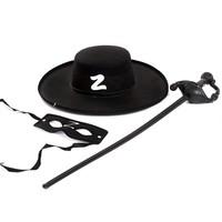 Halloween party dressed adult children Zorro suit Zollo Szoro eye Zorro sword