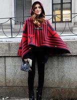 2014 New Female Hooded cloak sweater outerwear ruslana korshunova sweater For Women 1PCS Free shipping