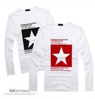 2014 autumn male small fresh slim fashion trend of the male long-sleeve basic t-shirt