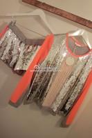 Sass bide paillette color block neon long-sleeve top shorts casual sports set