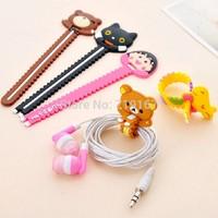 Promotion gift  Cartoon earphones cable winder  cord winder cables  organizador holder management organizer 10pcs free shippment