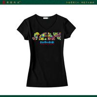 1201229 original design summer lovers short-sleeve T-shirt women's traditional decorative pattern