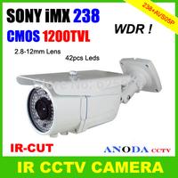 Super WDR Surveillance Video CCTV Camera Sony IMX238 CMOS 1200TVL IR-CUT 2.8-12MM Varifocal Lens Outdoor Using